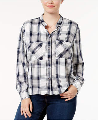 Melissa McCarthy Trendy Plus Size Plaid Shirt