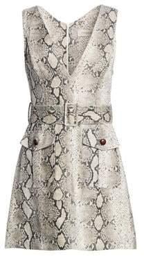 Zimmermann Corsage Linen Python Print Dress
