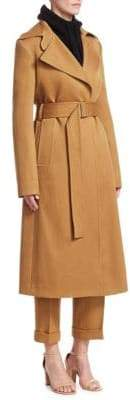 Victoria Beckham Fitted Wool Trench Coat