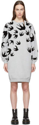McQ Grey Swallow Signature Sweatshirt Dress