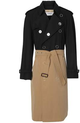 Burberry two-tone trench coat