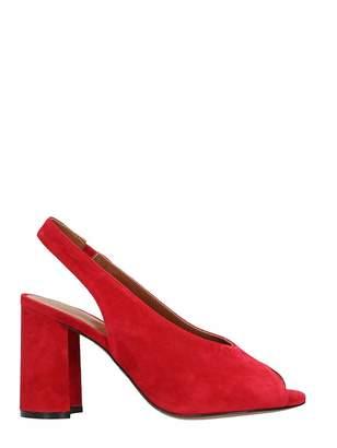 Lola Cruz Red Suede Sandals