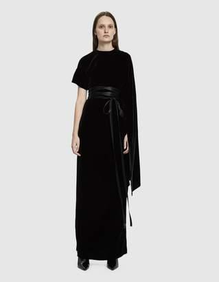Awake Velvet One Sleeve Dress