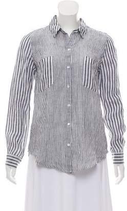 Calypso Striped Linen Top w/ Tags