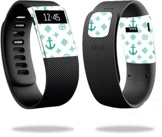 Fitbit Mightyskins MightySkins Skin for Charge 3 - Black Argyle | Protective, Durable, and Unique Vinyl Decal wrap cover | Easy To Apply, Remove, and Change Styles | Made in the USA