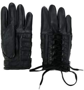 Kokon To Zai lace-up biker gloves