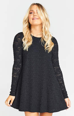 Show Me Your Mumu Tyler Tunic Dress ~ Falling Leaf Lace Black