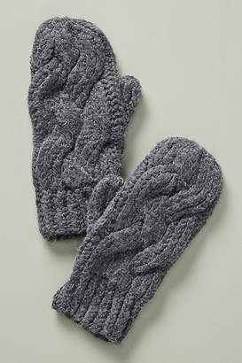 Lemon Cable-Knit Mittens