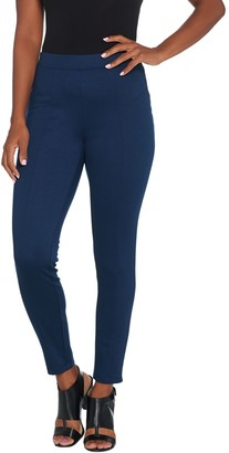 Halston H By H by Regular Stretch Twill Ankle Length Pull-On Pants