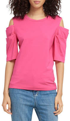 DKNY Layered Cold-Shoulder Top