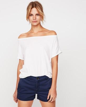 96dd06929dbcf Express White Off Shoulder Women s Tops - ShopStyle