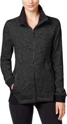 Calvin Klein Womens Moisture Wicking Printed Fleece Jacket Black M