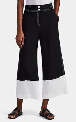 Derek Lam 10 Crosby Women's Colorblocked Crepe Wide-Leg Pants - Black