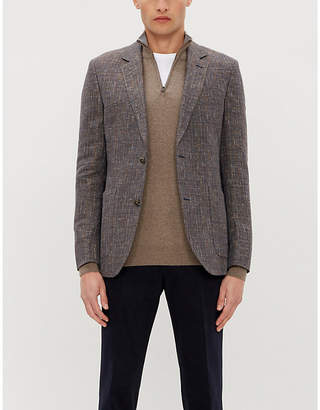 Corneliani Zip-neck wool and cashmere-blend jumper