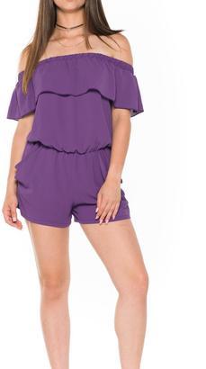 Bella Ruffle Strapless Romper $68 thestylecure.com