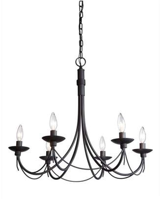 Artcraft Lighting Wrought Iron 6-Light Ebony Black Chandelier