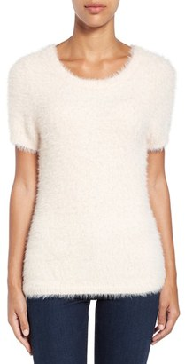 Women's Cece Eyelash Short Sleeve Pullover $89 thestylecure.com
