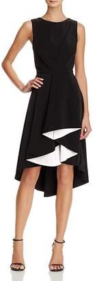 Adelyn Rae Harla Contrast Ruffle Midi Dress