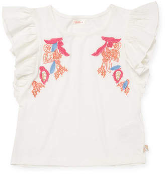 Billieblush & Embroidered Top
