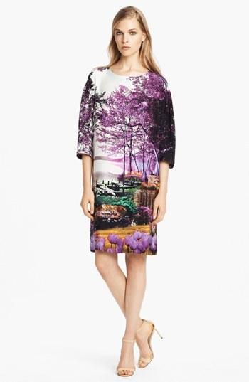 Mary Katrantzou Print Silk Shift Dress