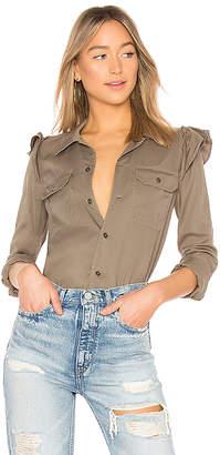 Pam & Gela Ruffle Army Shirt