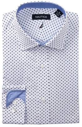 Nautica Onyx Print Classic Fit Dress Shirt