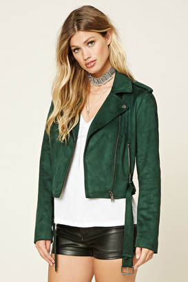 FOREVER 21+ Faux Suede Moto Jacket $44.90 thestylecure.com