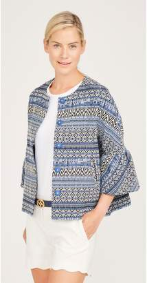 J.Mclaughlin Linden Jacket in Diamond Jacquard
