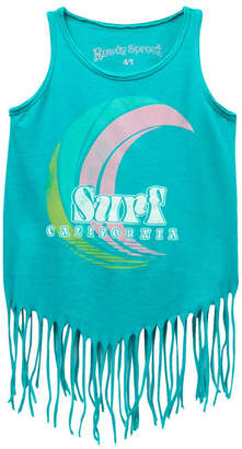 Rowdy Sprout Surf California Hippie Tank Top (Toddler Girls, Little Girls, & Big Girls)
