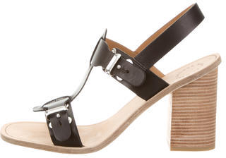 Marc by Marc Jacobs Leather T-Strap Sandals w/ Tags $95 thestylecure.com