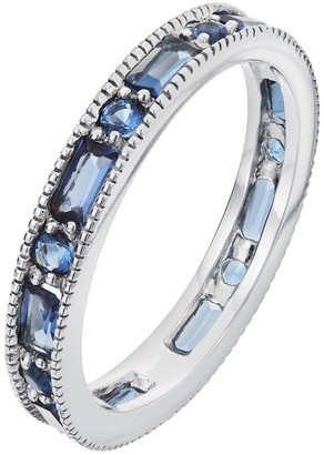 The Love Silver Collection Sterling Silver Glass Sapphire Eternity Ring