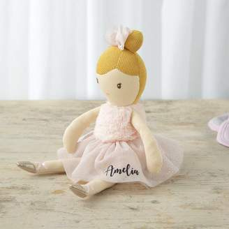 My 1st Years Personalised Ballerina Rag Doll In Pink Dress