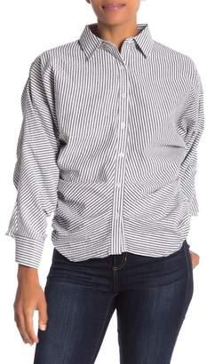 CQ by CQ Gathered Detail Pinstripe Shirt