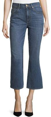 Co Mid-Rise Cropped Boot-Cut Jeans