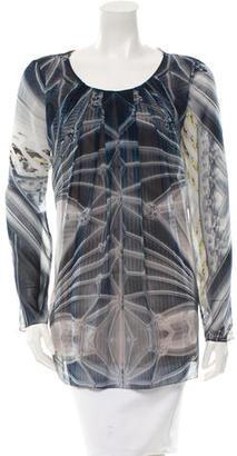 Vera Wang Silk Printed Blouse $65 thestylecure.com