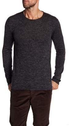 John Varvatos Collection Heathered Crewneck Sweater
