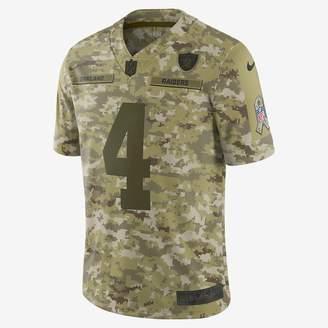 Nike NFL Oakland Raiders Salute to Service Limited Jersey (Derek Carr) Men's Football Jersey