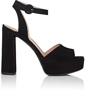 Free Shipping at Barneys Warehouse Barneys New York WOMEN'S SUEDE  ANKLE-STRAP PLATFORM SANDALS