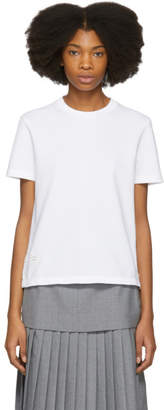 Thom Browne White Classic Pique Relaxed T-Shirt