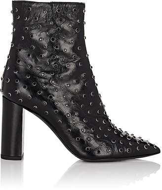 Saint Laurent Women's Betty Studded Leather Ankle Boots