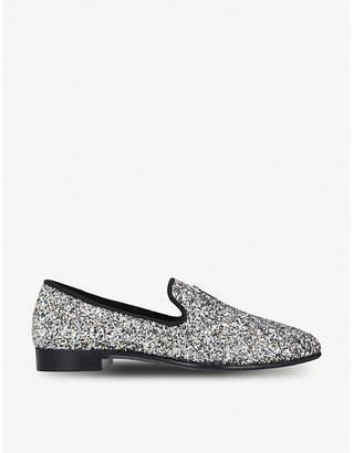 Giuseppe Zanotti All-over glitter leather slippers