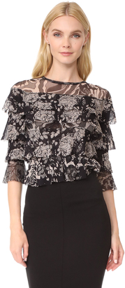 Fuzzi Stampa Layered Blouse $495 thestylecure.com