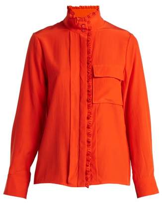 Chloé High Neck Silk Shirt - Womens - Red
