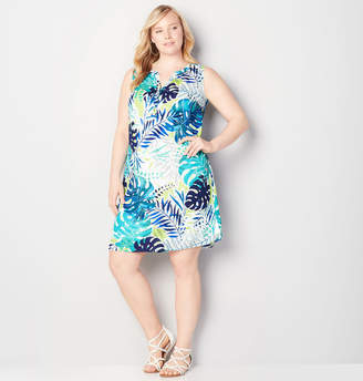 Avenue Tropical Split Hem Sheath Dress