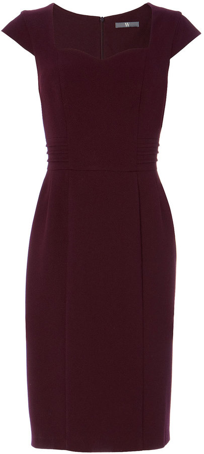 Burgundy Textured Dress
