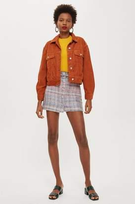 Topshop Boucle A-Line Mini Skirt