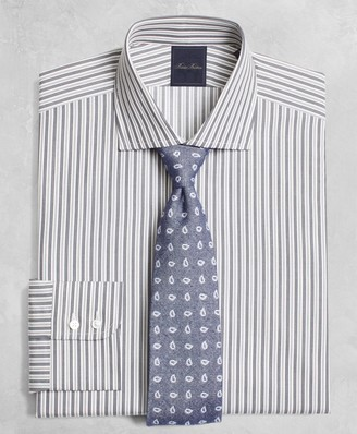 Brooks Brothers Golden Fleece Regent Fitted Dress Shirt, English Collar Alternating-Split-Stripe