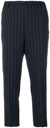 Ganni cropped pinstripe trousers