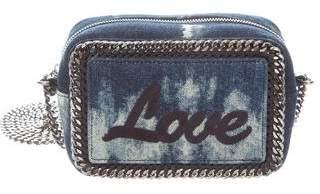 Stella McCartney Vegan Tie Dye Denim Falabella Crossbody Bag