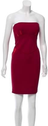 Zac Posen Strapless Knit Dress